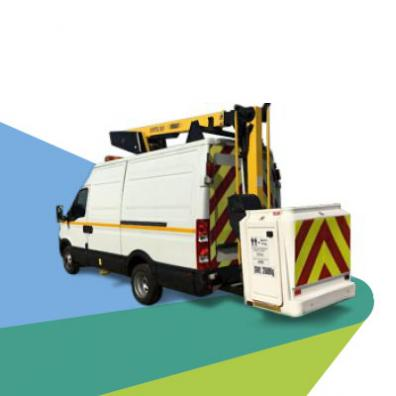 Example of a cherry picker van available for hire through Nationwide Hire