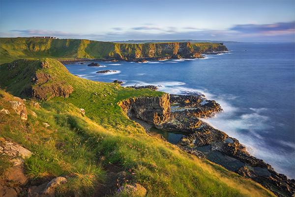 Portnaboe bay north antrim cliff from great stookan giants causeway